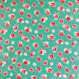 Retro Rose - Blue Green - 30's Collection - Atsuko Matsuyama - Yuwa