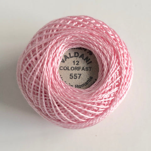 Valdani Size 12 Perle Cotton - Color 557 Wildrose Pink