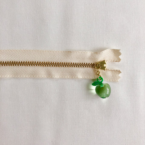 Apple Fruit Zipper - Clear Green