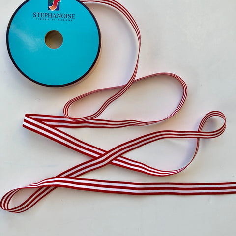Striped Ribbon - Red - La Stephanoise