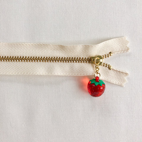 Strawberry Fruit Zipper - Clear Red