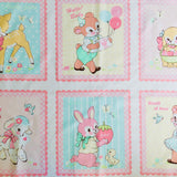 Lovely Animal Panel - Baby Pink - 30's Collection - Atsuko Matsuyama - Yuwa