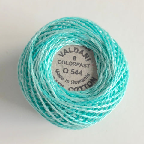 Valdani Size 8 Perle Cotton - Color 0544 Pond Ripple