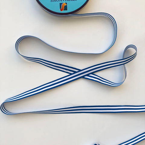 Striped Ribbon - Cadet Blue - La Stephanoise