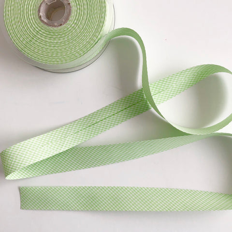 Bias Binding - Mint Gingham - La Stephanoise