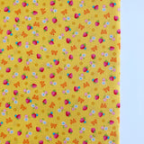 Strawberry and Bows - Yellow - Very Cotton - Kokka