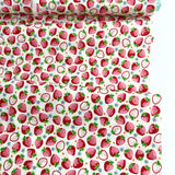 Strawberry - White - Very Cotton - Kokka