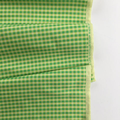 Gingham Check - Green/Lime - Live Life Collection - Yuwa