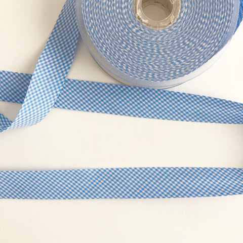 Bias Binding - Blue Gingham - La Stephanoise