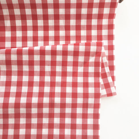 "Red 1/2"" Woven Gingham - Riley Blake"