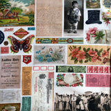 Flea Market Mix - Ephemera Flat Lay - Parchment - Cathe Holden - Moda