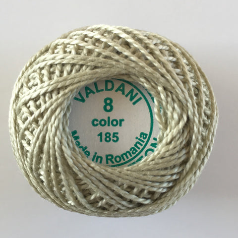 Valdani Size 8 Perle Cotton - Color 185 Gray Juniper - Very Light