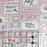 Cross Stitch Sampler - Purple - 30's Collection - Atsuko Matsuyama - Yuwa