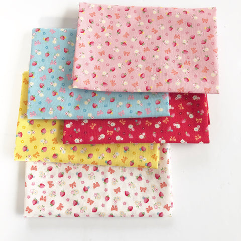 Strawberry and Bows Bundle - Very Cotton - Kokka