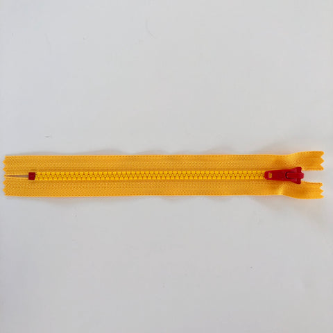 Toy Zipper - Yellow Zip with Red Pull