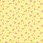 Antique Flower - Roses and Dots - Yellow - Lecien