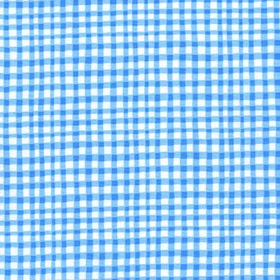 Gingham Play - Blue - Michael Miller