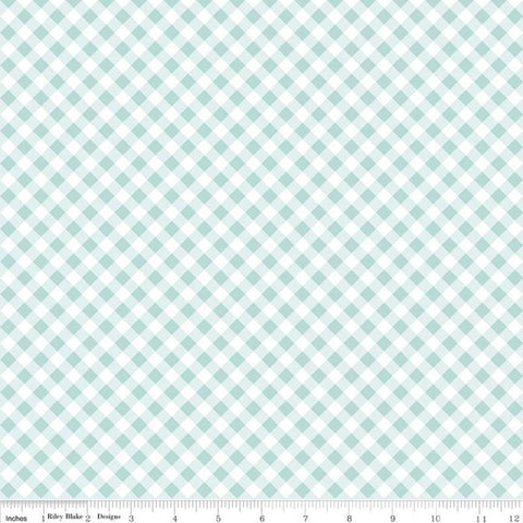 Seaside Gingham Aqua - Riley Blake