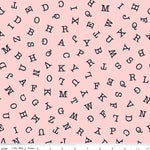 Hungry Animal Alphabet ABC Toss - Pink - Riley Blake Designs
