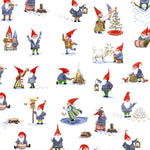 Winter Gnomes (Main) - Snow White - Winter Gnomes - Striped Pear Studio - Windham