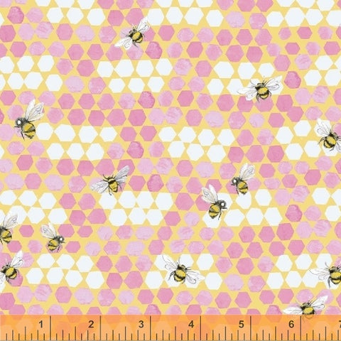 My Imagination - Bees - Pink - Clare Therese Gray - Windham