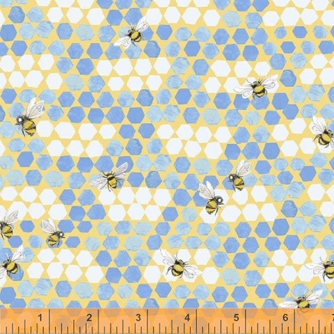 My Imagination - Bees - Blue - Clare Therese Gray - Windham