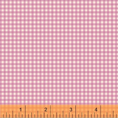 Trixie - Gingham - Light Pink (purple) - Heather Ross - Windham