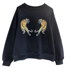 Mirror Tiger Oversized Sweat in Navy