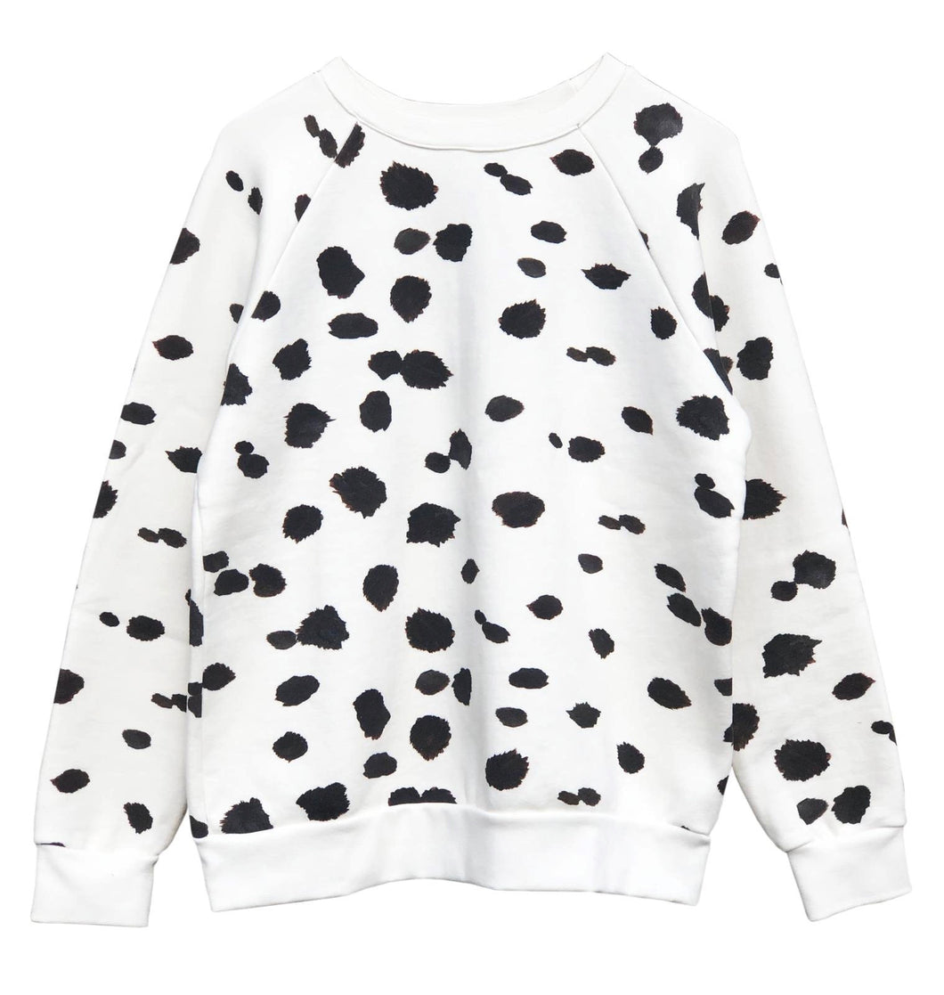 Women's LUX Oversized Spotty Cow Sweatshirt