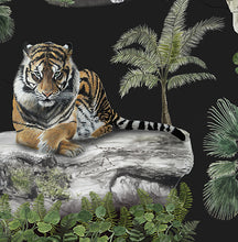 Imperial Tiger Wallpaper - Black