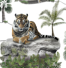 Imperial Tiger  Wallpaper - White