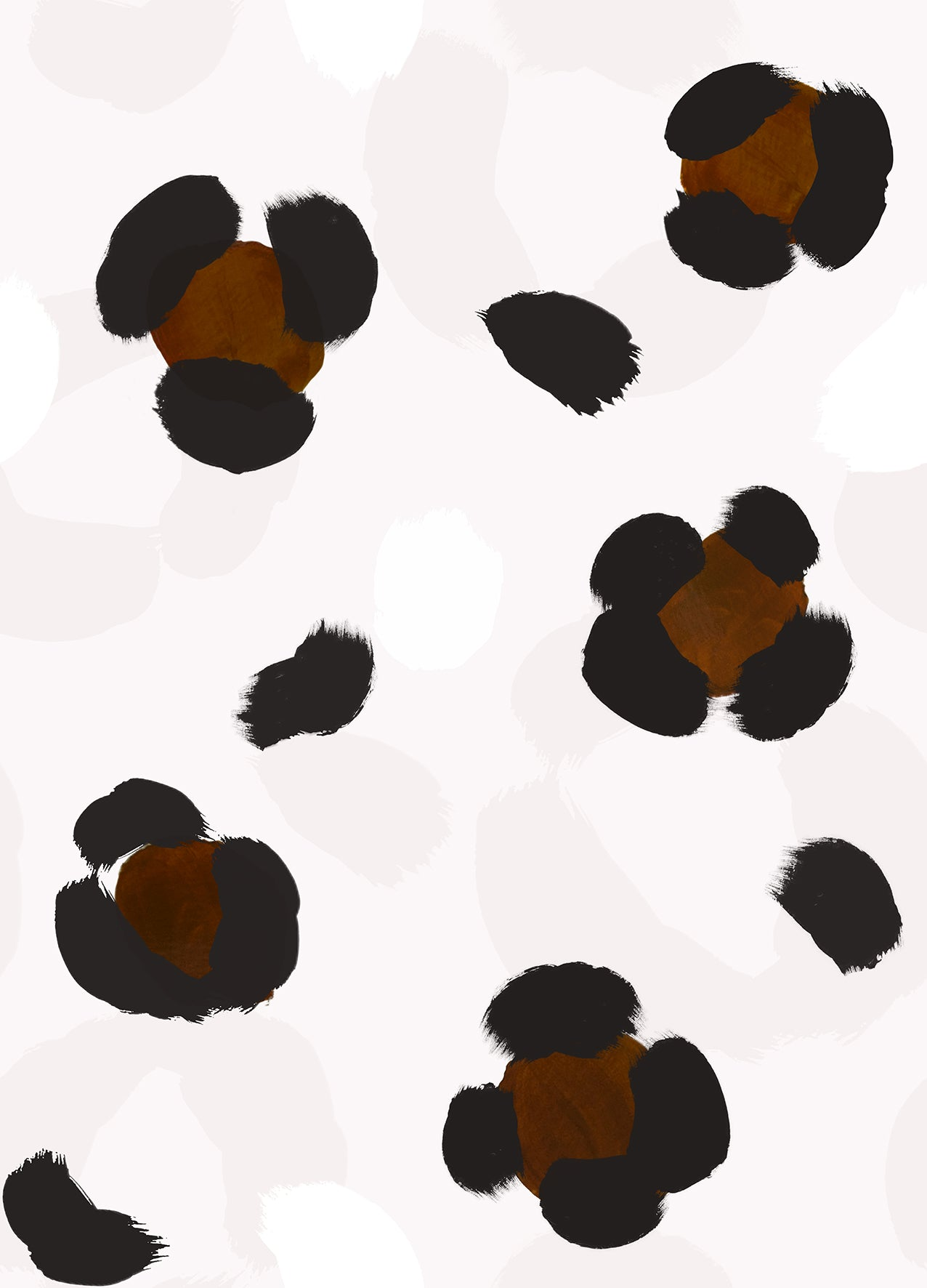 Large Leopard Print Wallpaper Sample - Chocolate