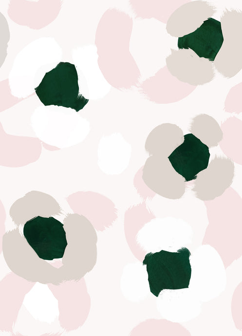 Large Leopard Print Wallpaper Sample - Green