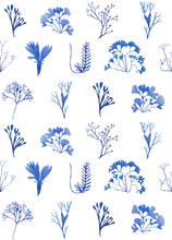 Sea Flowers Wallpaper Sample - Blue