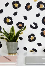 leopard print wallpaper on trend and great for any room!