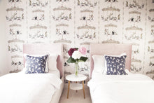 girls pink pretty wallpaper with animals and carousel pony rides, perfect for a beautiful bedroom.