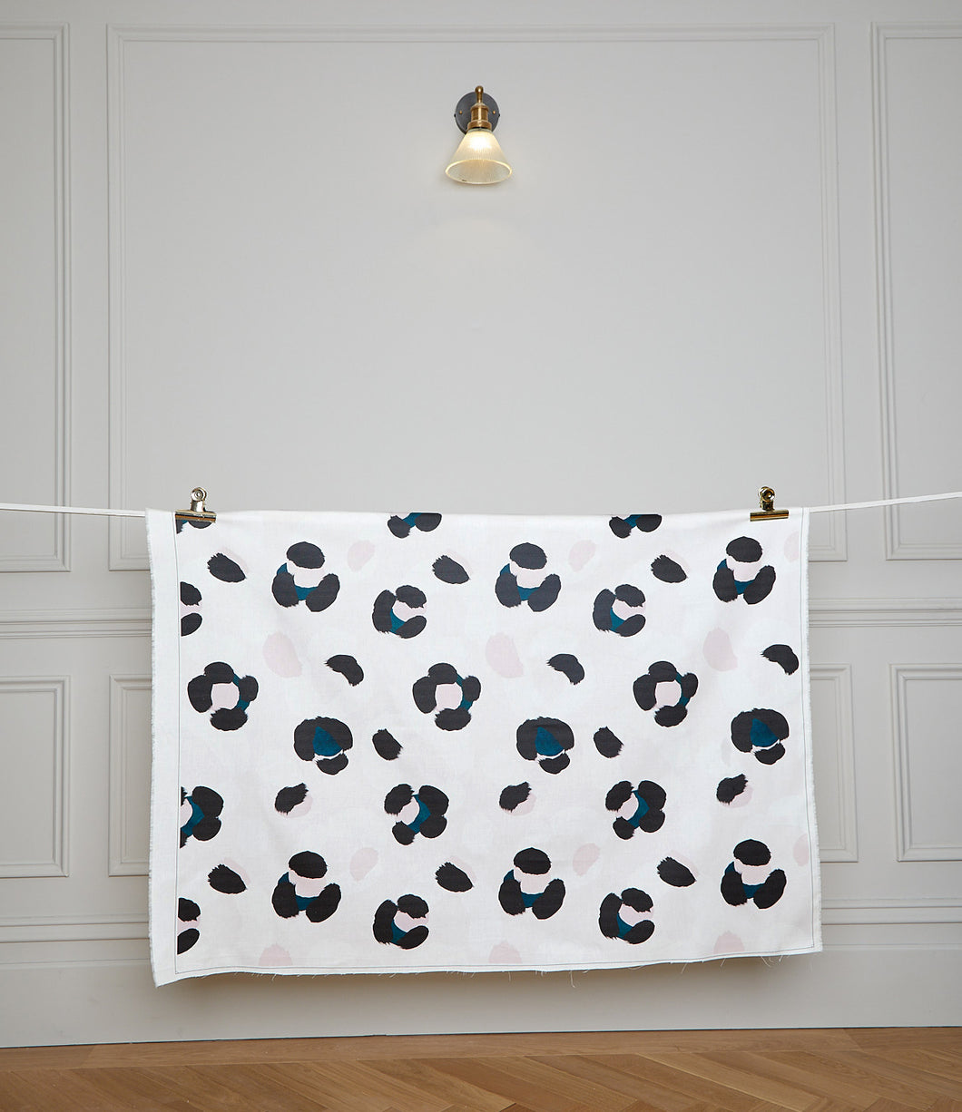 Large Leopard Splodge Teal Fabric