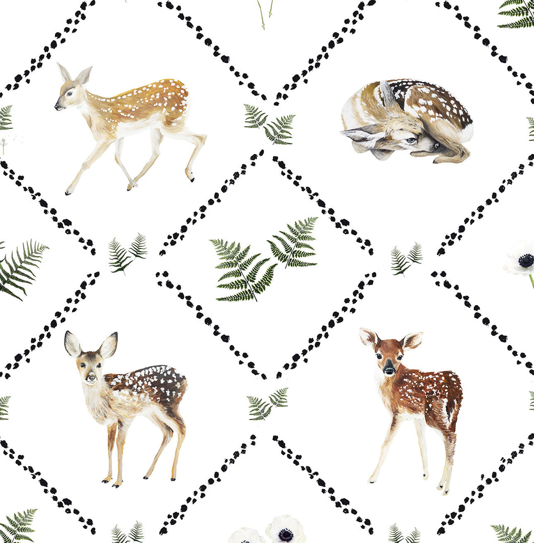 beautiful girls fawn and bambi wallpaper a perfect vintage print for a girls bedroom