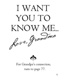 I Want You To Know Me ... Love, Grandma and Grandpa