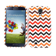 Chevron Zig Zag Black/Red Hard Slim Protector Cover Case for Samsung Galaxy S 4