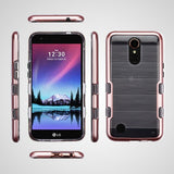 For LG Harmony/K10/K20 Plus/V5 TUFF Brushed Panoview Hybrid Protector Case Cover