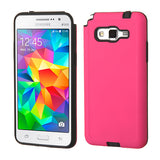 For G530 Galaxy Grand Prime Hot Pink/Black Advanced Armor Protector Cover