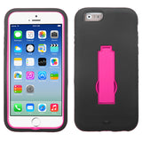 For iPhone 6s/6 Hot Pink/Black Symbiosis Stand Protector Cover