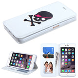 For iPhone 6s Plus/6 Plus Big Skull/White MyJacket Wallet Protector Cover Case