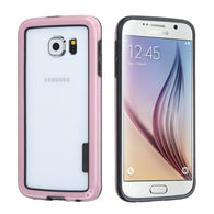 For G920 Galaxy S6 Black/Solid Pink MyBumper Phone Protector Cover