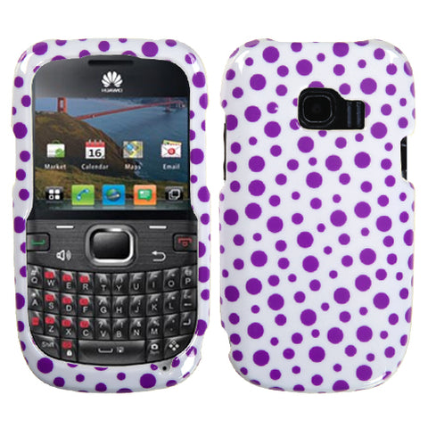 For M636 Pinnacle 2 Purple Mixed Polka Dots Phone Protector Cover