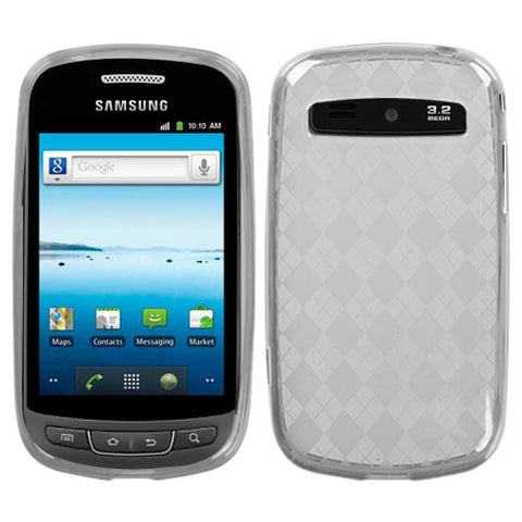 For R720 Admire T-Clear Argyle Silicone Candy Skin Protector Cover Case