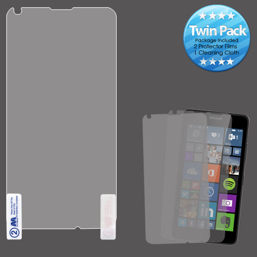2x LCD Screen Cover Protector Film w/ Cloth Wipe for Microsoft Lumia 640