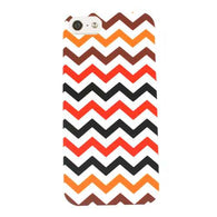 Chevron Zig Zag Black/Red Hybrid Hard Protector Cover Case iPhone 5
