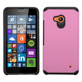 For Lumia 640 Pink/Black Hybrid Astronoot Phone Protector Cover Case